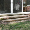 BRICK STEPS BUILT WITH RECLAIMED BRICK