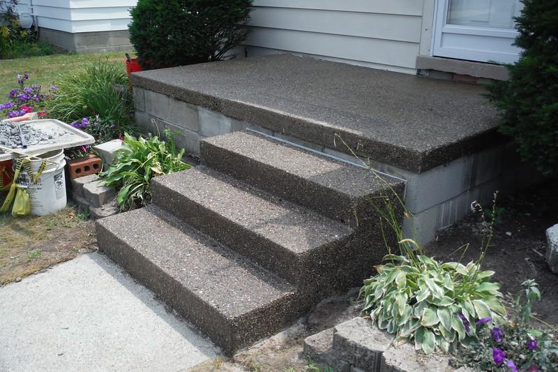 Step replacement / porch repair / exposed aggregate