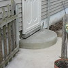 OLD PRECAST STEP REPLACED WITH NEW RADIUS CONCRETE STEP