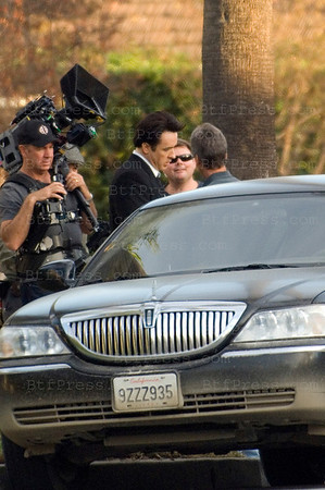 Day 100 for the set of 2012 with John Cusack , in Beverly hills on December 11,2008