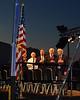 Pledge of Allegiance - R to L : Cal Fowler, Steve Robinson, John Glenn, Scott Carpenter.