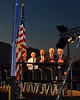 Pledge of Allegiance - R to L : Cal Fowler, Steve Robinson, John Glenn, Scott Carpenter.