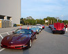 The corvettes that will drive the astronauts and honored guest`s to the ceremony.