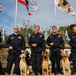 On the Friday morning of January 22, 2016, firefighters and their new search dogs graduated from the National Disaster Search Dog Foundation in Santa Paula, California. (© Erica Jacques 2016)
