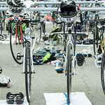 On June 7, 2015, competitors have their bicycles lined up on the racks for the Camarillo Duathlon Series at Freedom Park in Camarillo, Calif. ( © Erica Jacques 2015)