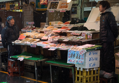 Working on a rainy day at Ameyoko Market