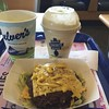 Culver's is a favorite...the bunless triple cheeseburger.