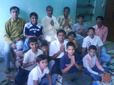 Youth satsang at Vatsal Patel's house with Mineshanandji