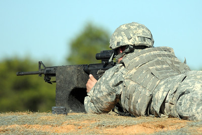 In this image, released by JTF-71 (MEB), Soldiers with the Minuteman Brigade conduct marksmanship training with their assigned weapons during annual training at Camp Swift in Bastrop, Texas. Reinforcing the fundamentals with basic warrior skills helps these service members stay tactically proficient in the event the are called into action. Photo by Sgt. 1st Class Daniel Griego.