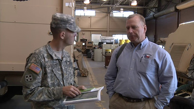 In this video released by the Texas Military Forces, leadership with Joint Task Force 71 meets with their active duty counterparts from the 2nd Chemical Battalion in Fort Hood, Texas, January 26, 2012.