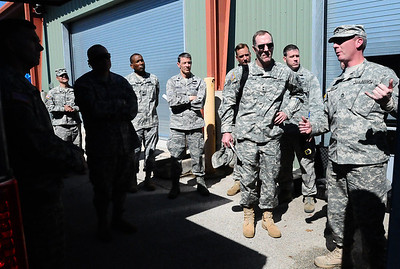 Lt. Gen. William B. Caldwell, the commander for U.S. Army North, took the opportunity to meet with several key members of the FEMA Region VI Homeland Response Force while in Austin, Texas, Tuesday, February 14, 2012. During his visit, several members of the Joint Task Force 71 were on hand to demonstrate and explain the equipment necessary to provide defense support to civilian authorities. (Photo/Texas Army National Guard Staff Sgt. Melissa Bright)