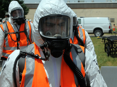 In this image released by the Joint Task Force 71, Servicemembers of the Minuteman Brigade conduct a collective training excercise at the Govale Water Treatment Facility in Austin, Texas, April 26-27, 2012. This excercise helps Joint Task Force 71 maintain readiness to conduct the Homeland Response Force mission throughout FEMA Region 6.