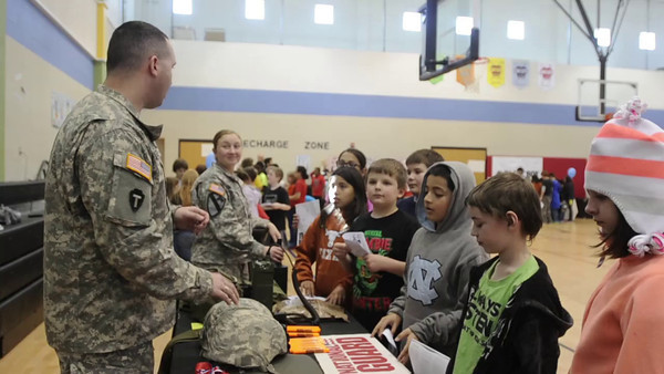 Members of the Minuteman Brigade spent time with the students of Ray Elementary School in Hutto, TX, January 31. Brigade PIO Sgt. 1st Class Daniel Griego has more in this news brief.