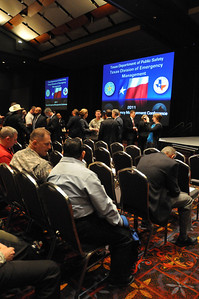 In this image released by the Texas Military Forces, Maj. Gen. John Nichols, The Adjutant General for Texas, pauses to meet with key leaders and Soldiers during the 2011 Texas Division of Emergency Management Conference, Thursday, April 28, 2011, in San Antonio Texas.  The conference provides the perfect opportunity for members of the Texas Military Forces to meet and interact with key leaders and organization leaders in a non-emergency setting. (Photo/100th Mobile Public Affairs Detachment, Army National Guard Staff Sgt. Melissa Bright)