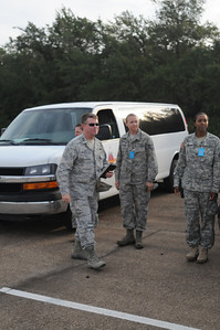 In this image released by the Texas Military Forces, General Officers and VIP members with the Texas Military Forces and the Texas State Guard were given a tour and overview of soldiers with JTF 71 participating in a Homeland Response Force operations during External Evaluation training at Texas A&M University Riverside Campus, College Station, Texas, Tuesday, Oct. 11, 2011.  JTF 71, among other missions, deploys to coordinate the efforts of various Guard units activated for statewide emergencies to act as a Homeland Response Force for FEMA Region IV. The JTF has trained hard for the last year and is ready to respond to community emergencies.  JTF-71 and other units will be ready if called to service for an incident. (Photo/100th Mobile Public Affairs Detachment, Army National Guard SPC Eric Love
