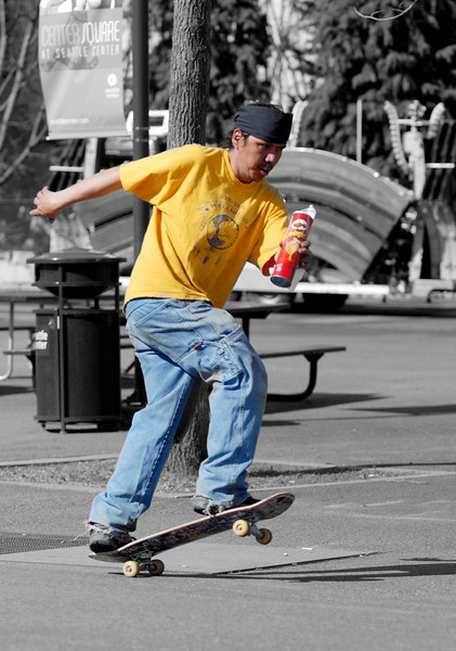 Daniel takes a skate break