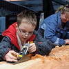 mother and son visitors now carvers