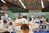 In the end, lots and lots of judoka took part in the warming up
