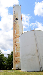 Kevin Harvison | Staff photo Pittsburg Rural Water District #11 was without water this week, and officials said they suspected  a problem with the Kiowa water tower was to blame.