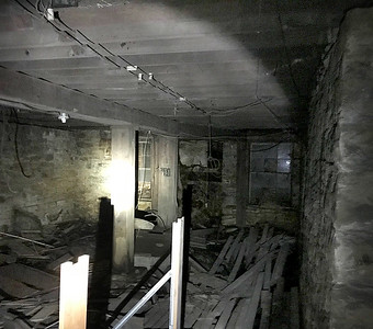 PIC FROM CAMERON OF WINDOWS AND A DOOR STILL INTACT FROM THE UNDER GROUND TUNNEL ON CHOCTAW.