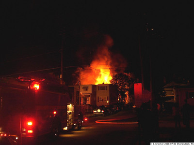 SHENANDOAH STRUCTURE FIRE 7-21-08 PICTURES BY J C KREISHER