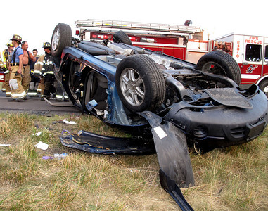 BUTLER TOWNSHIP INTERSTATE 81 MILE MARKER 118 SOUTH VEHICLE ACCIDENT w/ ENTRAPMENT 7-8-2010 PICTURES BY FRANK ANDRUSCAVAGE