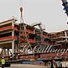 Setting the massive steel girders