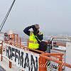 Photographer  Michael McCullough on tower crane #2
