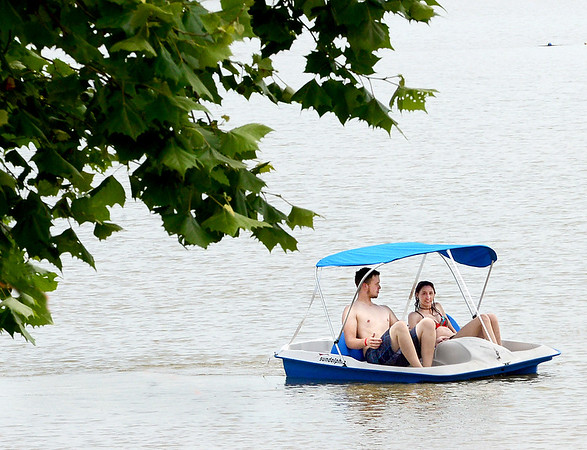 Kevin Harvison | <br /> A paddle boat is photographed on Lake Eufaula. Summer weather is starting to settle into the area with warmer temperaturs.