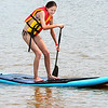 Staff photo by Kevin Harvison |<br /> Brooke Kelley, enjoys lake life on a paddle board at Lake Eufaula.