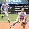 Kevin Harvison | Staff photo<br /> Tennessee first baseman fileds the ball during Junior Sunbelt action at Mike Deak Field.