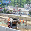 Staff photo by Kevin Harvison |<br /> Work continues on U.S. Highway 69 on George NIgh Expressway.