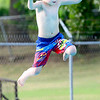 Kevin Harvison | Staff photo<br /> Jettis Jones jumps into Jeff Lee Pool.