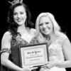 Kevin Harvison | Staff photo<br /> 2018 Miss McAlester Alexandria Williams poses with Miss McAlester Pageant Overall Crowd Pleaser Emerielle Sherman at S. Arch Thompson Auditorium Saturday.
