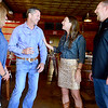 Kevin Harvison | Staff photo<br /> Pictured from left, Amy Grace, Clay Padgett his wife Amy Padgett and Jack Grace enjoy a visit during Padgett watch party in McAlester.