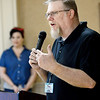 KEVIN HARVISON | Staff photo<br /> Scott Walker, Executive Director of Shared Blessings in McAlester, introduces the speaker for the Hope House Luncheon held at the McAlester Country Club Friday. Hope House is celebrating it's first 10 years.