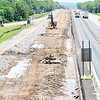 KEVIN HARVISON   Staff photo<br /> Construction continues on U.S. Highway 69 near the Eufaula exit keeping north and southbound directions to one lane.