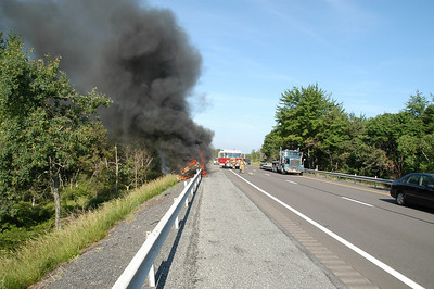RYAN TOWNSHIP VEHICLE ACCIDENT w FIRE MM125 INTERSTATE 81 6-18-2010 PICTURES AND VIDEOS BY COALREGIONFIRE
