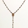"7-RM34-PYR CO69  ""MOTHER'S"" CROSS ON PYRITE CHAIN--DELICATE ROSARY STYLE NECKLACE  16 + 2"""
