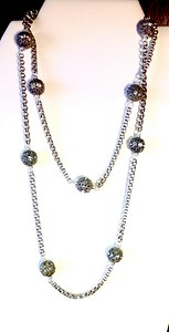 "7-RS-SCHN CO89  THIS IS A LONG NECKLACE--36""--GOOD FOR LAYERING--GREAT CHAIN--SEE NEXT PIC FOR HOW IT REALLY LOOKS"