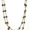 """7-PY-GH CO85  LARGE PYRITE RONDELLES ON GOLD AFRICAN HEISHI  40"""""""