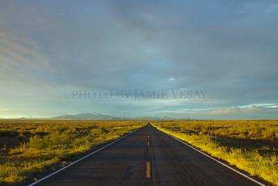 Road through the Prairie New Mexico - Jamie Vesay