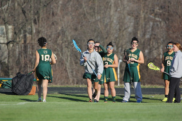 JV girls lacrosse vs. BCC 3-23-17