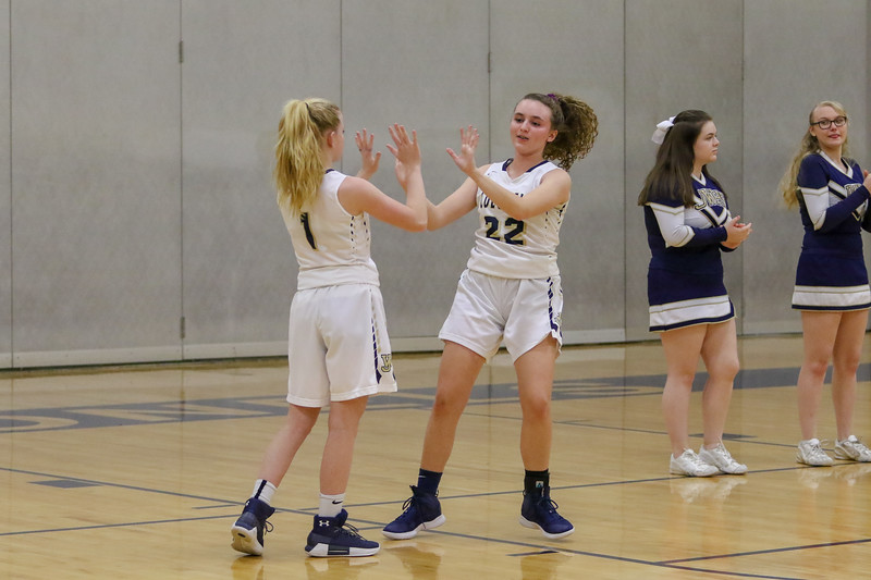JW Girls Varsity Basketball 1-22-19