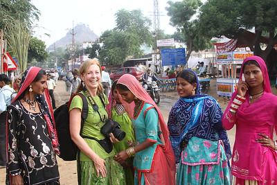 Pushkar Camel Fair, India 2010 - curious new friends!