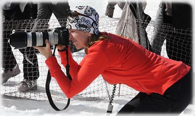 Shooting the annual Pondskim at Ski Roundtop, Pennsylvania.