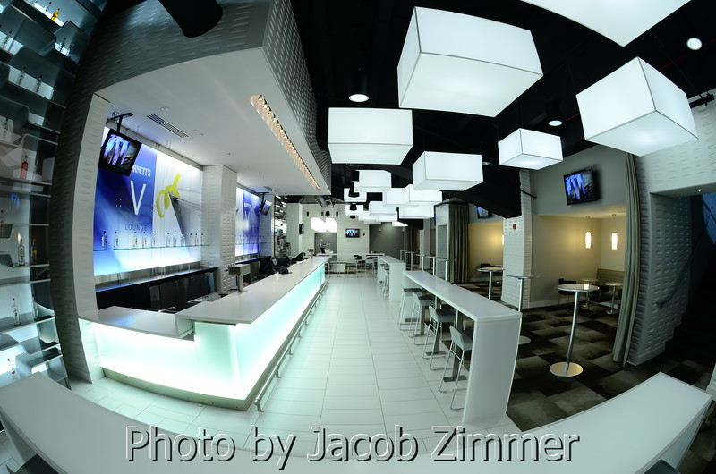 Heaven Hill Bar at the KFC YUM! Center, November 2011. Photo by Jacob Zimmer, Zymage Photography.
