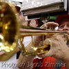A trumpet player from Louisville's pep band entertains at half time of the regular season opener against Charleston at the KFC YUM! Center Saturday. UofL defeated College of Charleston 70 to 48.  November 9, 2013.