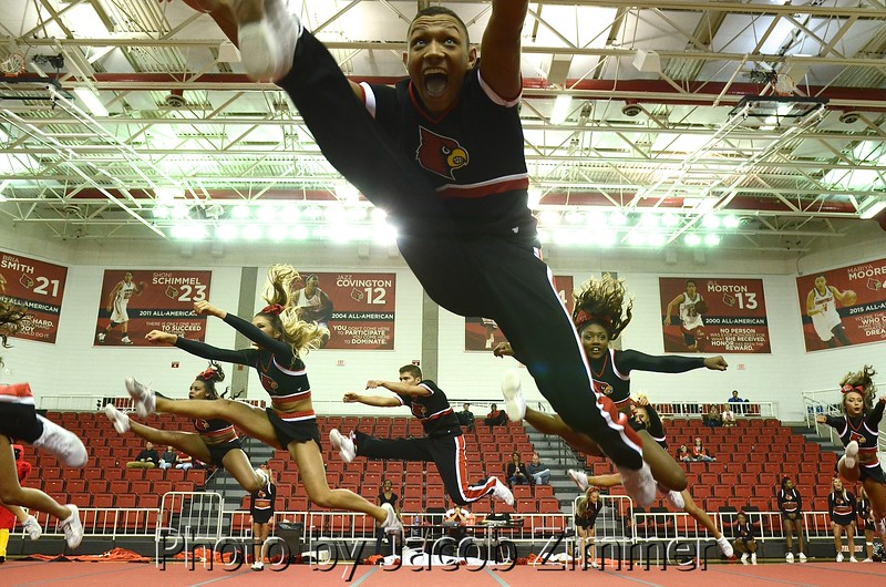 Alec Brooks performs in the UofL Cheer and Dance 2016 Nationals Preview at Cardinal Arena Monday night. April 4, 2016.