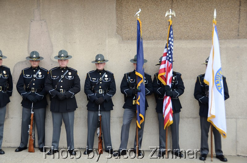 KY State Police Officers at the 2013 KY Derby Festival Pegasus Parade. May 2, 2013.